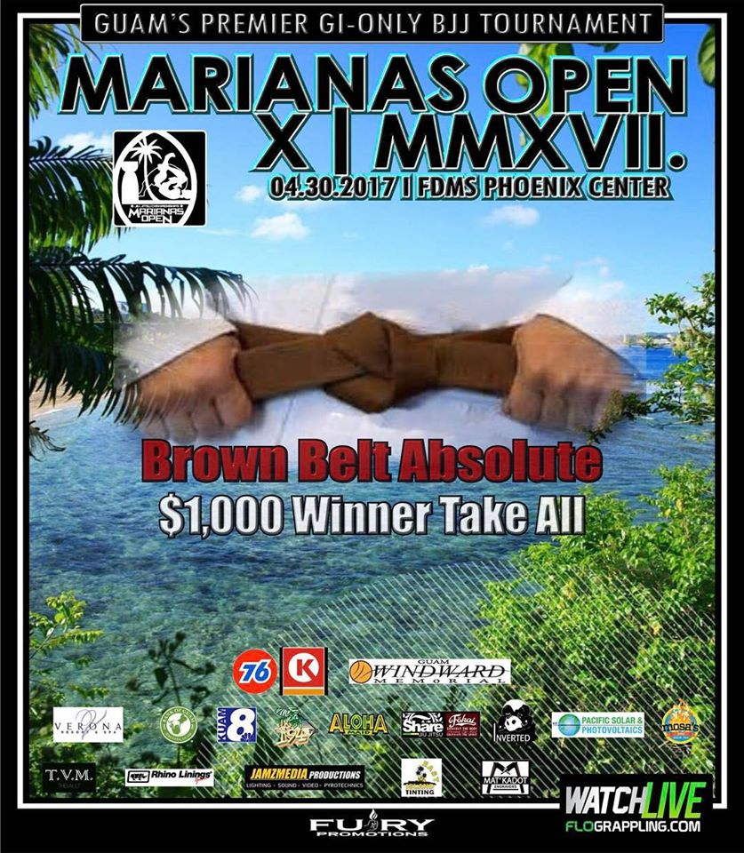 Marianas open brown belt